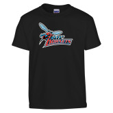 Youth Black T Shirt-Lil Hornets w/ Baby Hornet