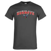 Charcoal T Shirt-Delaware State University w/Hornet