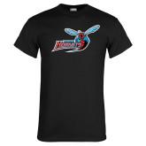 Black T Shirt-Delaware State Hornets w/Hornet