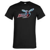 Black T Shirt-Delaware State Hornets w/Hornet Distressed