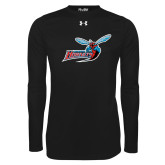 Under Armour Black Long Sleeve Tech Tee-Delaware State Hornets w/Hornet