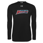 Under Armour Black Long Sleeve Tech Tee-Delaware State Hornets