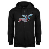 Black Fleece Full Zip Hoodie-Delaware State Hornets w/Hornet