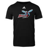 Adidas Black Logo T Shirt-Delaware State Hornets w/Hornet