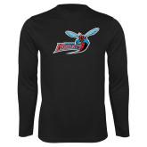 Performance Black Longsleeve Shirt-Delaware State Hornets w/Hornet