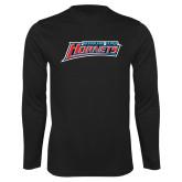 Performance Black Longsleeve Shirt-Delaware State Hornets