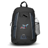 Impulse Black Backpack-Delaware State Hornets w/Hornet
