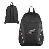 Atlas Black Computer Backpack-Delaware State Hornets w/Hornet