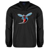 V Neck Black Raglan Windshirt-Hornet