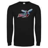 Black Long Sleeve TShirt-Delaware State Hornets w/Hornet