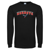 Black Long Sleeve TShirt-Delaware State University w/Hornet
