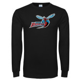 Black Long Sleeve TShirt-Delaware State Hornets w/Hornet Distressed