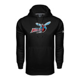 Under Armour Black Performance Sweats Team Hoodie-Delaware State Hornets w/Hornet