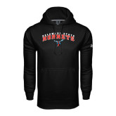 Under Armour Black Performance Sweats Team Hoodie-Delaware State University w/Hornet