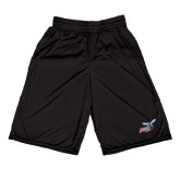 Performance Black 9 Inch Short w/Pockets-Delaware State Hornets w/Hornet