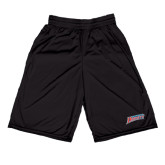 Performance Black 9 Inch Short w/Pockets-Delaware State Hornets