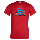 Red T Shirt-Soccer Ball Design