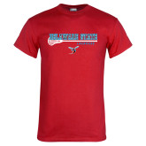 Red T Shirt-Lacrosse Stick Design