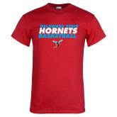 Red T Shirt-Basketball Text Design