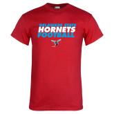 Red T Shirt-Football Text Design