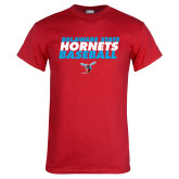 Red T Shirt-Baseball Text Design