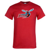 Red T Shirt-Delaware State Hornets w/Hornet Distressed