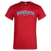 Red T Shirt-Delaware State University w/Hornet