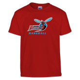 Youth Red T Shirt-Baseball