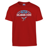 Youth Red T Shirt-Basketball Ball Design
