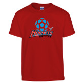 Youth Red T Shirt-Soccer Ball Design