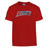 Youth Red T Shirt-Delaware State Hornets