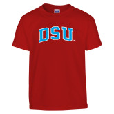 Youth Red T Shirt-Arched DSU