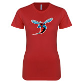 Next Level Ladies SoftStyle Junior Fitted Red Tee-Hornet