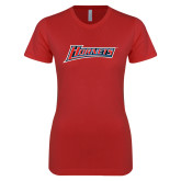 Next Level Ladies SoftStyle Junior Fitted Red Tee-Hornets