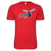 Next Level SoftStyle Red T Shirt-Delaware State Hornets w/Hornet