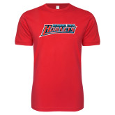 Next Level SoftStyle Red T Shirt-Delaware State Hornets