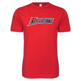 Next Level SoftStyle Red T Shirt-Hornets