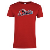 Ladies Red T Shirt-State