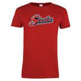 Ladies Red T Shirt-State