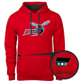 Contemporary Sofspun Red Hoodie-Delaware State Hornets w/Hornet