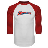 White/Red Raglan Baseball T-Shirt-Hornets