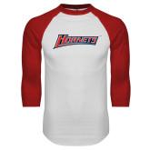White/Red Raglan Baseball T-Shirt-Hornets