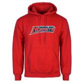 Red Fleece Hoodie-Delaware State Hornets