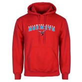 Red Fleece Hoodie-Delaware State University w/Hornet