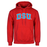 Red Fleece Hoodie-Arched DSU