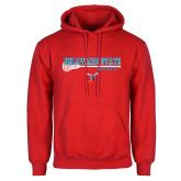 Red Fleece Hoodie-Lacrosse Stick Design