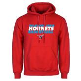 Red Fleece Hoodie-Basketball Text Design