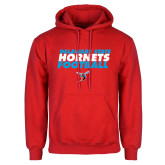 Red Fleece Hoodie-Football Text Design