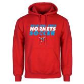 Red Fleece Hoodie-Soccer Text Design
