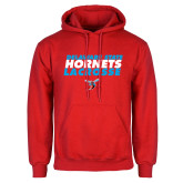 Red Fleece Hoodie-Lacrosse Text Design